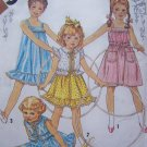 Vintage Sewing Pattern Girls Sundress Tent Sun Dress Jacket Sz 6 Cinderella Ruffle Hem 5466