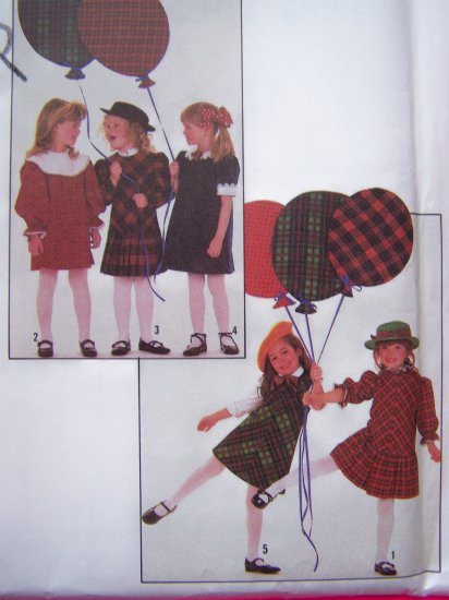 Vintage Sewing Pattern Bias Dress Toddler Girls Sz 3 Simplicity 8823