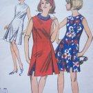 60's Mod Vintage Sewing Pattern A Line OverDress Seam Slit Beach Dress & Shorts Romper 3604
