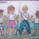 Boys Girls Sz 5 6 6x Shirt Shorts Pants with Wrap Waist Velcro Closure Butterick Sewing Pattern 5523