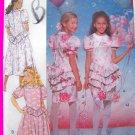 Girls Bryan Fancy Party Dress Full or Slim Skirt Dropped Waist Puff Ruffle Bow Sewing Pattern 4769