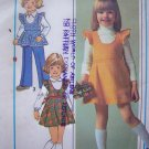 Vintage Sewing Pattern Girls 5 6 Empire Jumper Dress Ruffle Puff Sleeve Pants 7632