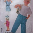 Vintage Girls Sewing Pattern Cropped Top Pull on Pants Skirt Shorts Toddler 3T Skirts 7532