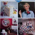 Plastic Canvas Patterns Magazine May 1991 Apple CLock Icicle Ornaments $ Bank