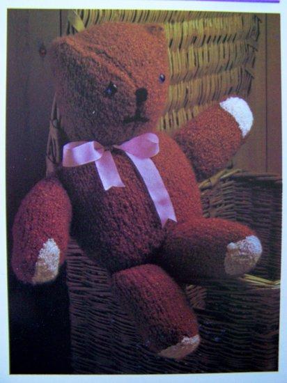USA 1 Cent S&H Vintage Knitting Pattern Teddy Bear Stuffed Knit Toys Dolls Animals