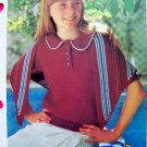 USA S&H 1 Cent Sweater & Shawl Wrap Button Placket Vintage Knitting Pattern