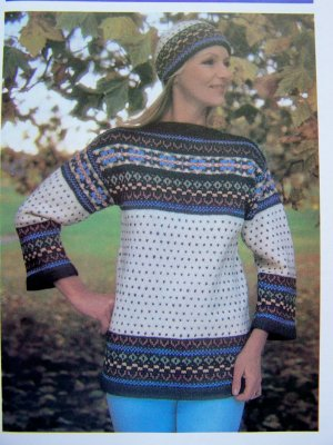 Free Knitting Pattern 659 Knitted Scandinavian Sweater : Lion