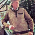 Men's Tweed Look Sweater Vintage Knitting Pattern Chest 38 40 42 44