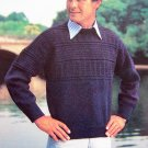 Men's Fisherman's Sweater Vintage Knitting Pattern Chest 38 40 42 44