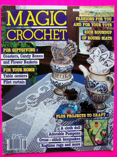 Magic Crochet Pattern Magazine # 36 Vintage Crocheting Patterns