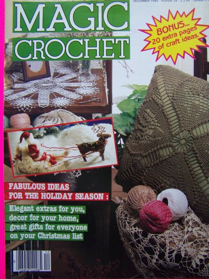 Magic Crochet Pattern Magazine # 39 Origami Crafts Vintage 80's Crocheting Ideas