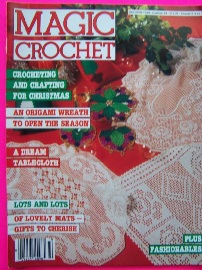 Magic Crochet Magazines # 44 Vintage Thread Crocheting Patterns