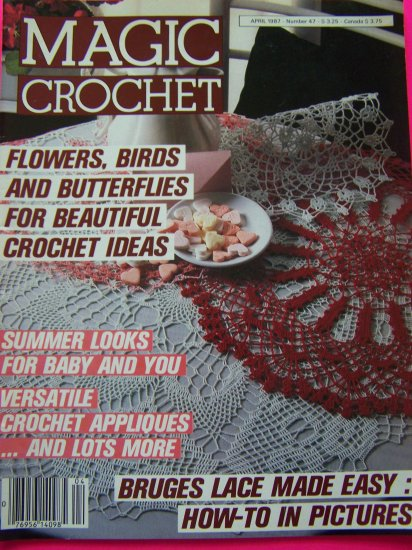 Magic Crochet Patterns Back Issue Magazine # 47 USA 1Dollar Shipping