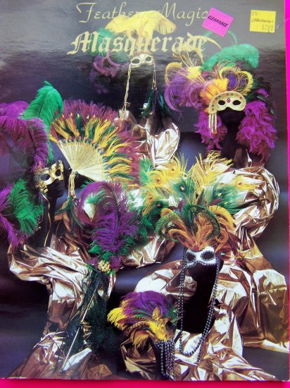 Masquerade Ball Feather Masks Pattern Mardi Gras Party Stick Fan Victorian Renaissance Mask Ideas