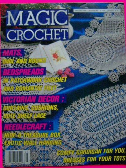 Magic Crochet Back Issues Magazine # 49 Vintage Thread Patterns