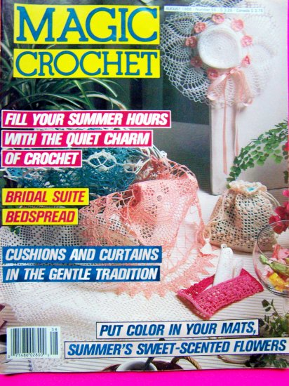 Magic Crochet Patterns Vintage Thread Filet Book # 55 Peacock Honeycomb Buttercup Doily Cafe Curtain
