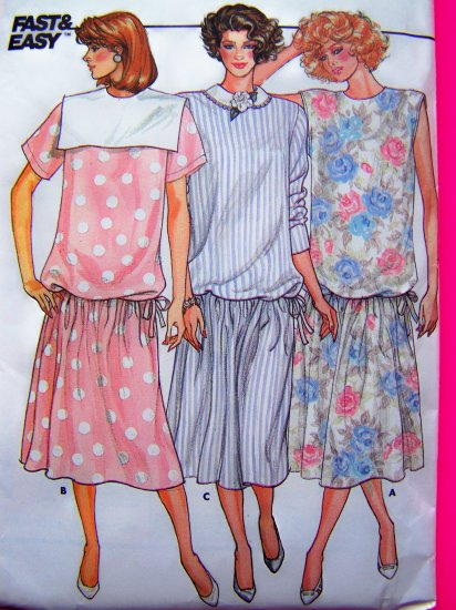 Vintage Maternity Sewing Pattern Dress Dropped Waist 6 8 10 Sailor Sleeveless Short Long Slv 3645