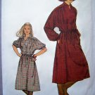 Vintage Sewing Pattern Pullover Dress Kimono Sleeves B 32.5 Drawstring Waist Casing 8675