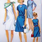1960's Mod Dress A Line B 34 Sleeveless Short 3/4 Sleeves  Vintage Sewing Pattern 6862