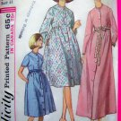 Misses Robe Patio Dress Lounge Wear Sz 10 Vintage Sewing Pattern Simplicity 6247