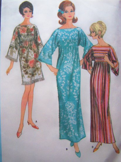 60's Vintage Sewing Pattern Robe Caftan Lounge Wear B 34 Patio Dress 8506