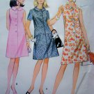 1960s Mod Flared Dress Round Collar B 34 Vintage Sewing Pattern Sleeveless Short Sleeves M 8785