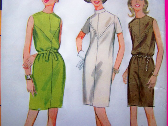 1960's Mod Dress B 34 Vintage Sewing Pattern 9145