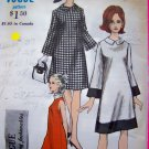 Mod Fitted A Line Dress Vintage Sewing Pattern & Young Fashionables Label B 32 Vogue 6881