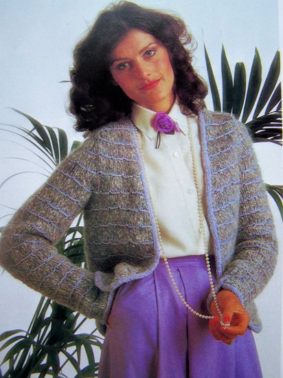 USA 1 Cent S&H French Style Jacket Sweater B 34 36 Vintage Knitting Pattern International Boutique