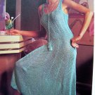 USA 1 Cent S&H Opulent Evening Dress Beach Maxi Knitted Sundress Gown Vintage Knitting Pattern
