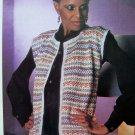 Metallic Fairisle Evening Jacket Sweater Womens Bust 32 34 36 38 Vintage Knitting Pattern