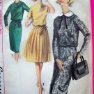 60's Mod Dress Slim Wiggle or Full Pleat Skirt Sz 14 Vintage Sewing Pattern 5613