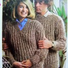 USA 1 Cent S&H His & Hers Mohair Sweaters Vintage Knitting Pattern Mens Misses