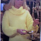 Womens Cowl Neck Sweater Bulky Knit Vintage Knitting Pattern Bust 31 33 35 37 Quick & Easy