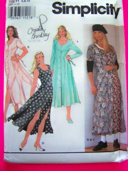Dress Princess Seam Flare Flowing Flared Skirt Sz 6 8 10 Christie Brinkley Sewing Pattern 8926 Uncut