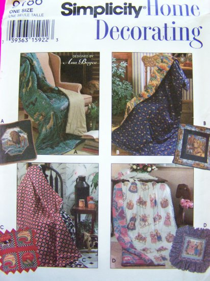 Uncut Pillow In A Quilt Country Decorating Simplicity Home Decor Sewing Pattern 9186 Uncut