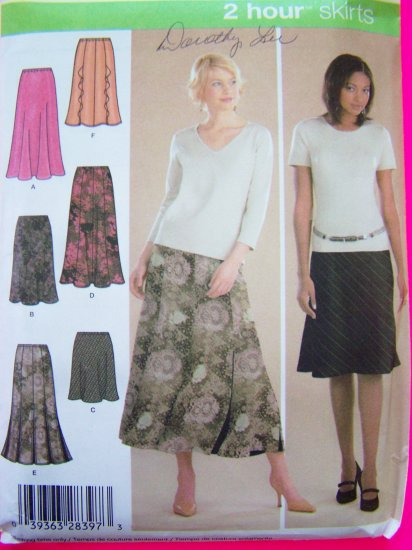 Pull on Gored & Bias Flare Skirt Misses 6 8 10 12 New Simplicity Sewing Pattern 4881