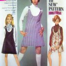1960&#39;s Vintage Mini Go Go Dress Ring Strap Jumper Mod Learn To Sew Sewing Pattern 8414 S