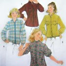 70's Vintage B 36 Long Sleeve Tunic or Drawstring And Shirt Tail Hem Tops Sewing Pattern 8620