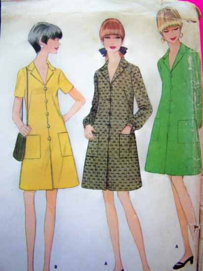 1960's Vintage A Line Dress French Darts Mod Sewing Pattern 8961