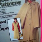 70's Vintage Dress Coat Cape Topper 10 12 14 Show Me Visual Sewing System Uncut Pattern 5753