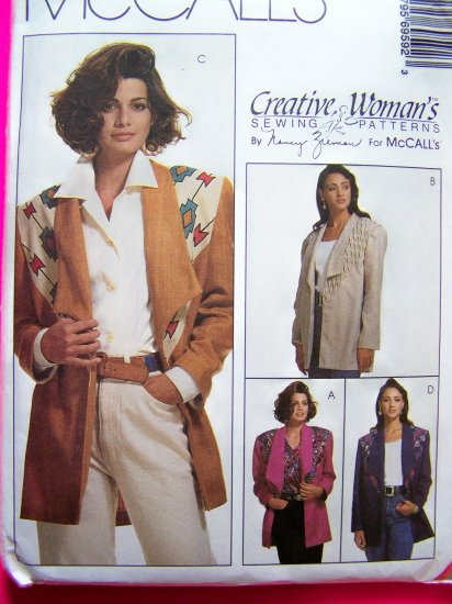 Unlined Suit Jacket 10 12 14 Blazer Decorative Yokes Nancy Zieman Sewing Pattern 6959