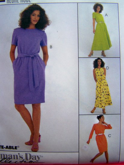 90's Pullover Dress Tie Belt 10 12 14 Back Keyhole Sundress Sewing Pattern 8720
