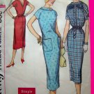 Mod 60's Vintage Dress High Round Neckline V Back B 31.5 Wiggle Sewing Pattern 2362