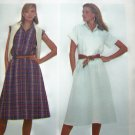 1980's DRESS Flare Skirt Pullover Shirtwaist Raglan Sleeves B 32.5 Vintage Sewing Pattern 7920
