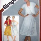 Vintage SunDress Bolero Sun Dress Sz 6 8 Sewing Pattern 9909