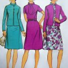 1970's Bias Roll Collar Dress Suit Princess Seamed Jacket B 38 Sz 16 Vintage Sewing Pattern 5394