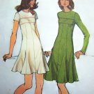 Vintage Jr Petite Empire Dress Flared Skirt Princess Seamed Bust 32 Sewing Pattern 5785