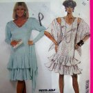 80's Dress Sundress Tiered Circle Flounce Skirt & Stole Wrap B 32.5 Vintage Sewing Pattern 3492