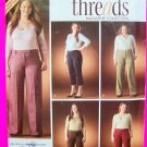 Plus Size Womens 18 20 22 24 W Capri Dress Pants Capris Threads Collection Sewing Pattern 4068